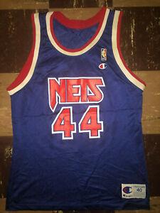 Details about Derrick Coleman Vtg 90s Rookie NEW JERSEY NETS Champion Jersey syracuse 40 EUC