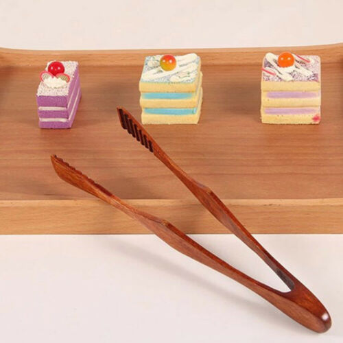 Cooking Kitchen Tongs Food BBQ Clamp Salad Bacon Steak Bread Cake Clip Tools
