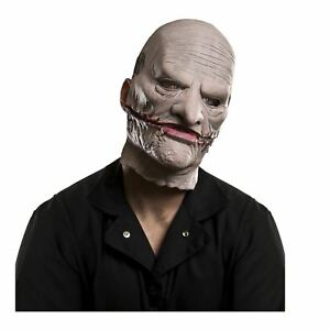 Adult-Men-039-s-Corey-Taylor-Licensed-Slipknot-Latex-Costume-Mask-w-Removable-Face