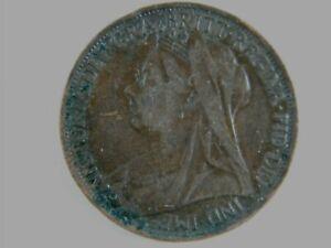 Moneda-1-Penny-Victoria-regina-fid-def-1896-World-Coins