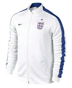 9eef2c7937 Nike England Soccer Football N98 Track Jacket Men s XS X-Small White ...