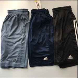 ADIDAS-Men-Designed-to-Move-3Stripe-Zip-Shorts-Conavy-Rawste-Black-M-LXL-XXL-NWT