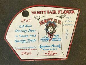 Vintage VANITY FAIR FLOUR PAINTED POT PAN SCRAPER Rare Old Advertising Sign