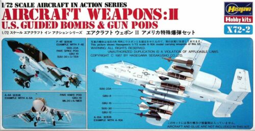 US Bombs /& Gun Pods Hasegawa 1//72 Aircraft Weapons II