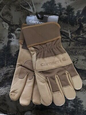 Carhartt Mens Work And Garden Leather Utility Gloves Size Medium M Tan