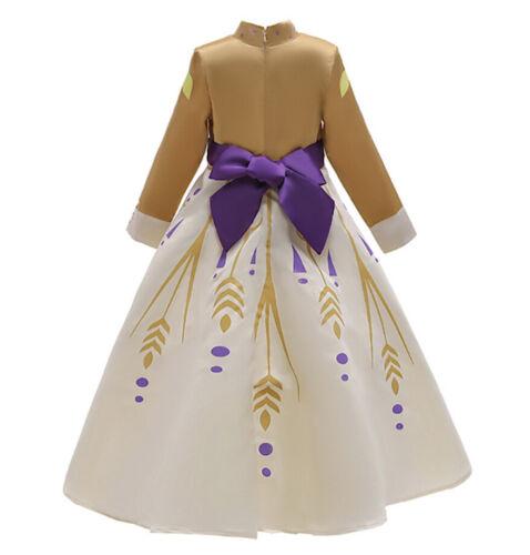 Simile Frozen Anna 2 Vestito Carnevale Bambina Cosplay Costume Dress FROZ009 SD