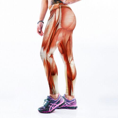Digital patterns printed Woman Slim elastic Sport leggings wide-waist legging