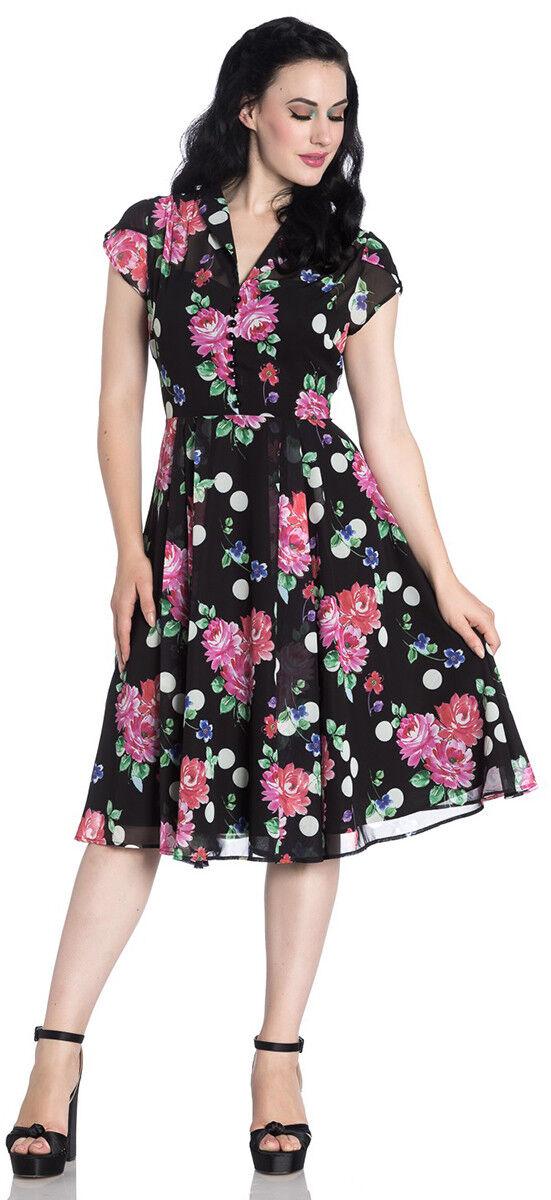Hell Bunny BLOOMSBURY Vintage DAHLIA Polka Dots SWING Kleid Kleid Rockabilly