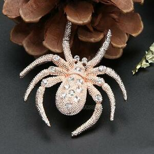 Women-Exquisite-Spider-Crystal-Rhinestone-Alloy-Brooch-Pin-Party-Jewelry-Gifts
