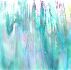 Buy Stained Glass Sheets.Details About Caribbean Aqua Blue Metallic Iridescent Stained Glass Sheet Or Mosaic Tiles Wow