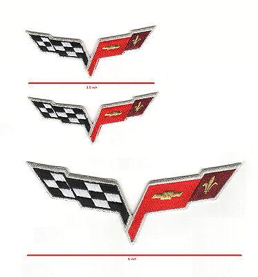 Accessoires & Fanartikel Plaketten Corvette Racing Team C-6 Metallisch 100% Bestickt Rennen C-6 15.2cm 3-pc Set Non-Ironing