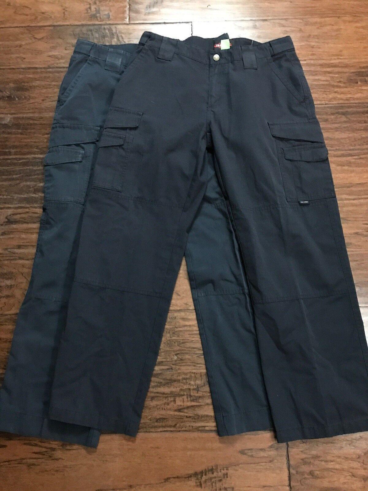 2 Pair Of Womens Tru-spec bluee Tactical Cargo Pants Size 8 Inseam 29 (w34)