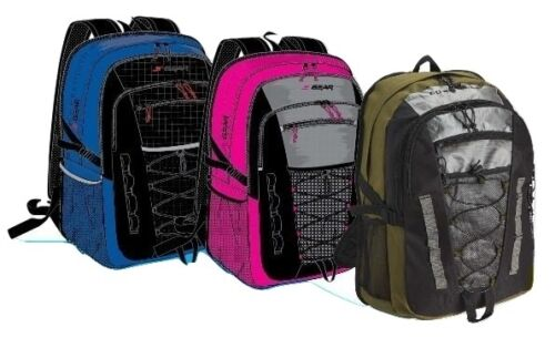"20/"" backpack Multiple pocket design with bungee and tablet pocket sleeve"