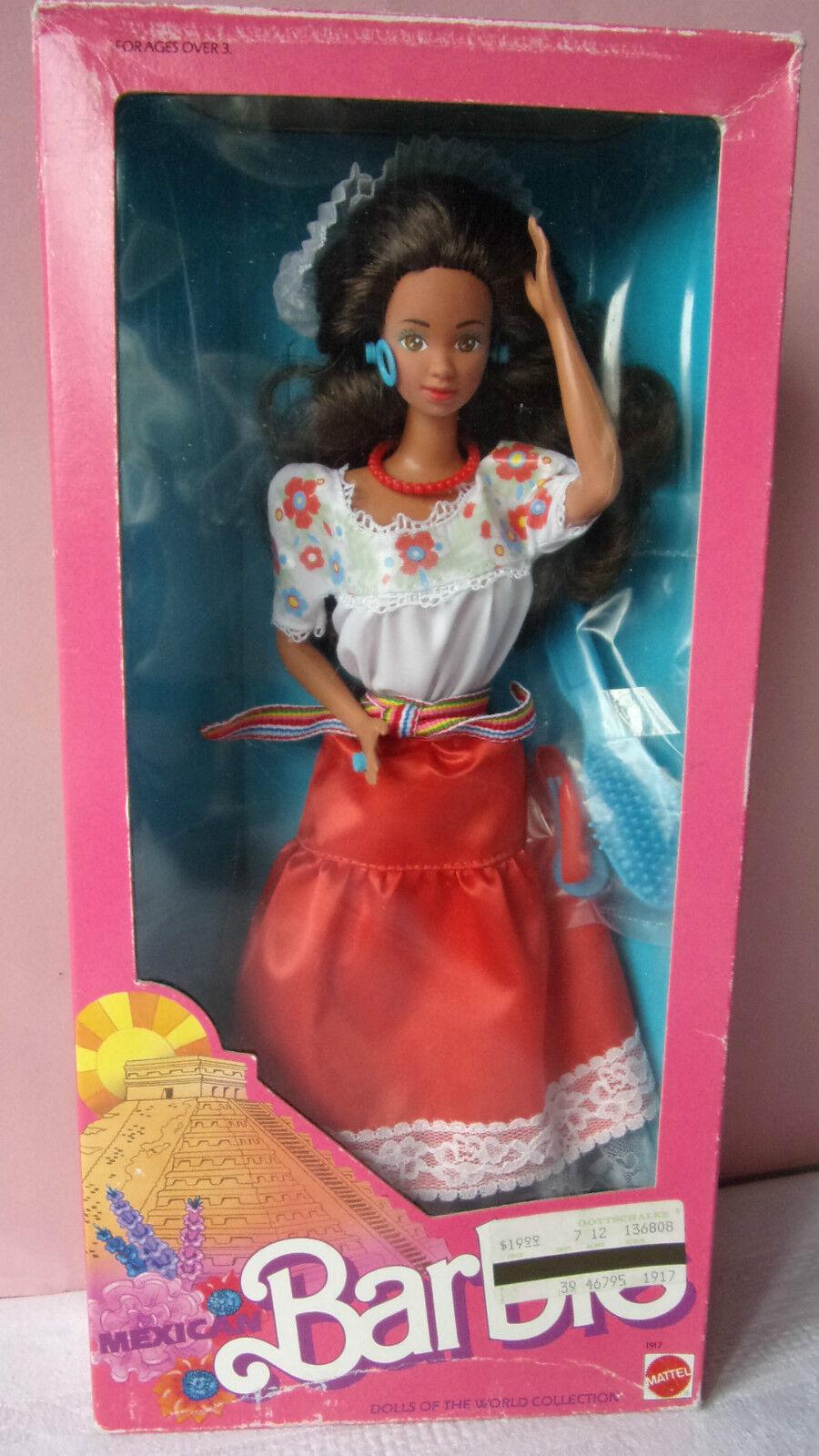 Poupée Doll BARBIE Poupées Du Monde- 1988 - Brune - MEXICAN MEXIQUE 1917