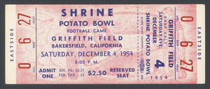 1954-POTATO-BOWL-COMPLETE-TICKET-COMPTON-vs-BOISE-JUNIOR-COLLEGE-JC