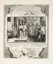 1728  Bibel Biblia Gegen die Schriftgelehrten und Pharisäer Matthäus 23, 3-4