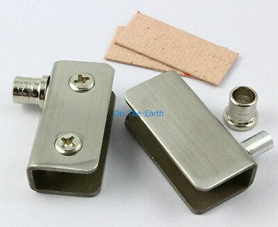 4 Pieces Glass Pivot Door Hinges Clamps  For 5-9mm Glass Door / Stainless Steel