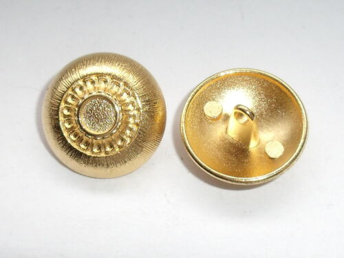 6 pieza de metal botones botón botones ojales botón de 20 mm de oro mercancía nueva inoxidable #962#