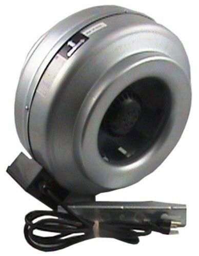 "New (M-4) 4"" 189CFM Fan Only Inline Duct Fan Booster Hydroponic Blower Exhaust"