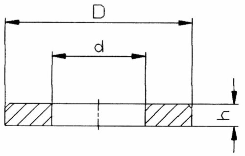 50 U-Scheiben//Distanzstücke M 20 mm ähnlich DIN 433 Kunststoff für M 3