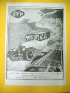 Publicite-de-Prensa-Dfp-Doriot-Flandrin-Padres-Automovil-Chasis-Fuente-1923