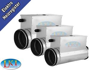 Elektro-Lufterhitzer-Heizregister-Luftvorwaermer-Vorheizer-3000-Watt-DN-315