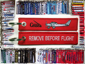 Keyring-Cessna-C150-Remove-Before-Flight-keychain-tag-for-pilots
