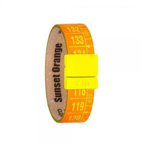 IL CENTIMETRO Bracciale Unisex Sunset orange C2489S vera pelle arancione Fluo