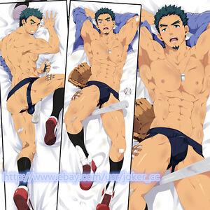 Male Anime Dakimakura Baseball Prince Muscle Man Hugging Body Pillow Case Cover