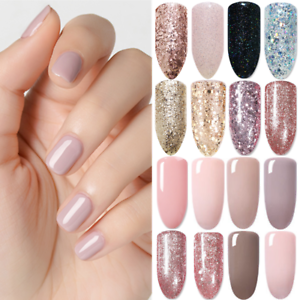 BORN-PRETTY-Soak-Off-UV-Gel-Nail-Polish-Rose-Gold-Glitter-Gel-Varnish-Nail-Art