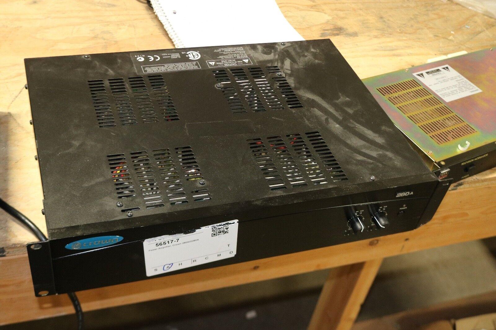 Crown 280a   80 Watt Commercial Power Amplifier