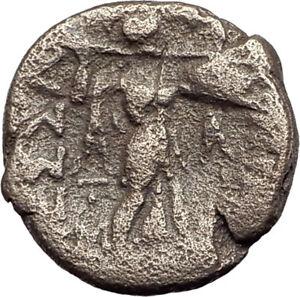LARISSA-Thessaly-Ancient-Greek-Coin-for-THESSALIAN-LEAGUE-APOLLO-ATHENA-i64560