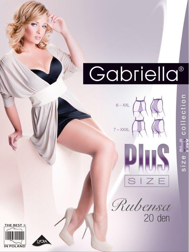 Gabriella Damen Strumpfhose in Übergrößen, Plus Size 20 Den