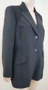 KENZO-JUNGE-Women-039-s-Black-Wool-Cashmere-Formal-Lined-Blazer-Jacket-FR44-UK16