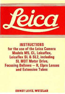 Leicaflex y otros modelos Instrucciones de Leica M5 CL