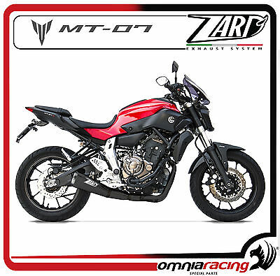 Zard Inox Racing - Yamaha MT-07 / FZ-07 2014> Black Ceramic Coated Full Exhaust