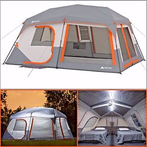 Ozark Trail 10 Person 2 Room Instant Cabin Tent Led