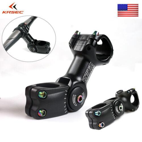"Adjustment Bike Stem 25.4//31.8mm Aluminum Alloy for 1-1//8/"" MTB//Road Bicycle Fork"
