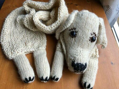 Knitting Pattern Labrador Scarf