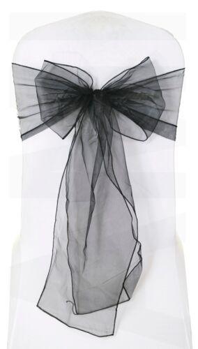 Organza Chair Sash Bow 25 Colours Wider Fuller Bows Wedding Venue Decor 1 10 100