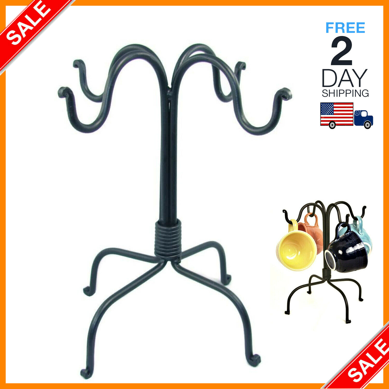 Countertop Coffee Mug Cup Tree Holder By Home Basics Bronze New For Sale Online Ebay