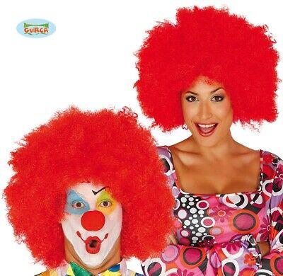1960s 1970s Afro Jumbo Costume Parrucca Rosso Parrucca Afro 1980s Discoteca Clown Parrucca Fg-mostra Il Titolo Originale