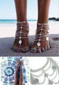 Bridal Beach Barefoot Sandals Foot Jewelry Wedding Dance Chain Boho