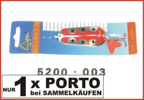 Delta Fishing Qualitäts Blinker Z-Form Hecht Köder Silber-Rot 40G 5200-004 Kva