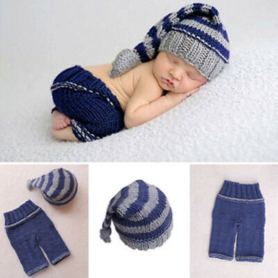 Newborn Baby Girl Boy Handmade Photography Prop Photo Crochet Knit Costu COF