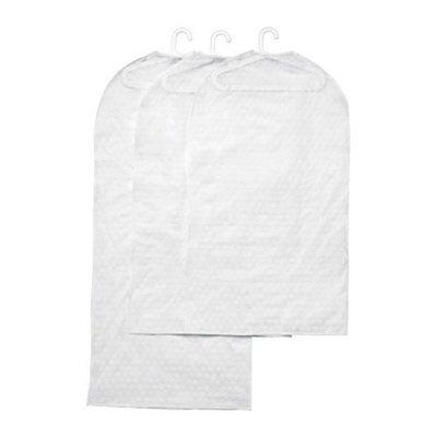 """Ikea Kleiderschutzhüllen """"pluring"""" Transparent-weiss 2x 60x105cm + 1x 60x130cm"""