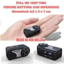 MINI DV MD80 FULL HD 1920*1080 NIGHT VISION MICRO CAMERA SPY 12 MPIXEL + SD 8GB