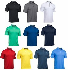 75c2e412 Under Armour UA Tech Polo Mens Golf Shirt 1290140 - Choose Color ...