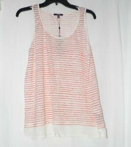 NYDJ-Not-Your-Daughter-039-s-Jeans-Striped-Contrast-Hem-Tank-Medium-NWT