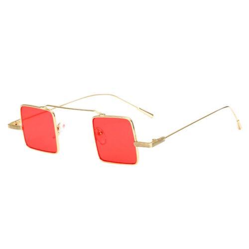 Petit Carré Lunettes de soleil anti-UV Rétro Chat lunettes teintées cadre fin fashion